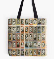 50 männliche und weibliche Filmstars aus den 1940er Jahren Tote Bag
