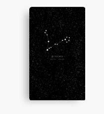 Pisces Zodiac Constellation Canvas Print