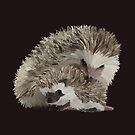Hedgehogs Cuddle / Mum & Baby by AOertel