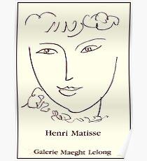 GALERIE MAEGHT LELONG : Vintage 1984 Head Art Advertising Print Poster