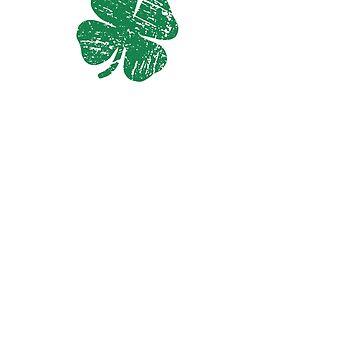 LOVE Irish Clover St Patrick's Day T-Shirt by PinkDesigns