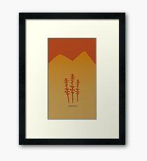 Arrakis Spice - Red Framed Print