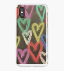 Chalk Pastel Hearts iPhone Case/Skin