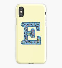 Soot Sprites Letter E Blue iPhone Case/Skin