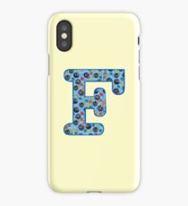 Soot Sprites Letter F Blue iPhone Case/Skin