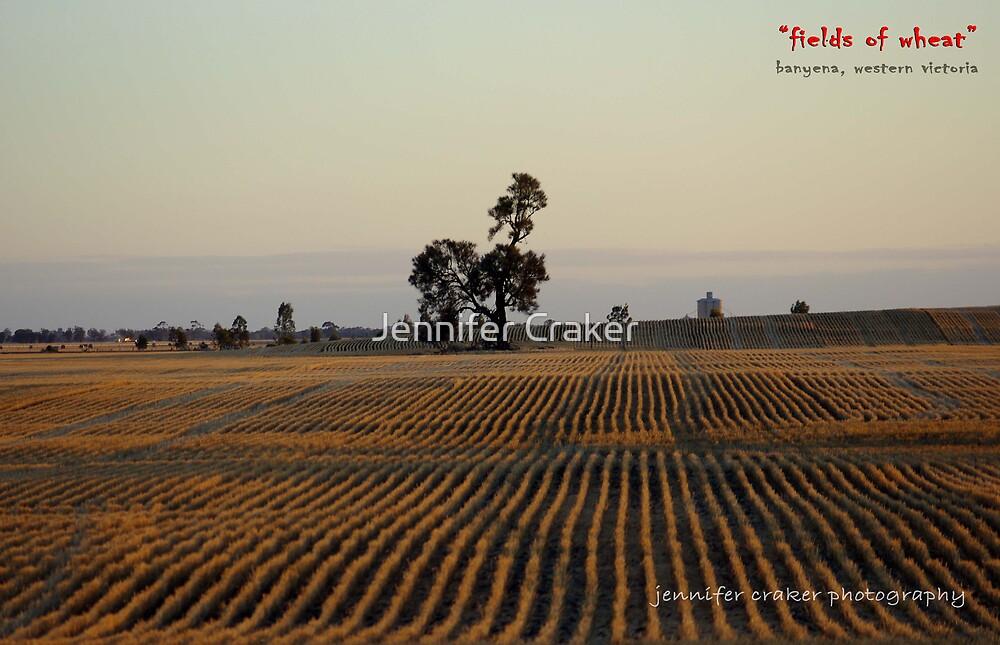 Fields of wheat V02 by Jennifer Craker