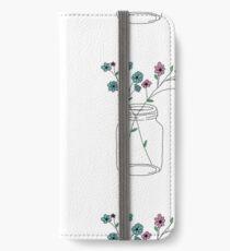 Einmachglas iPhone Flip-Case/Hülle/Klebefolie