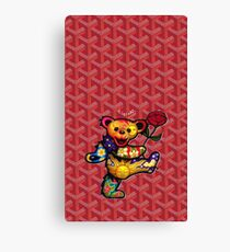 Red Goyard dead dancing bears Canvas Print