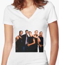 Backstreet Boys  Women's Fitted V-Neck T-Shirt