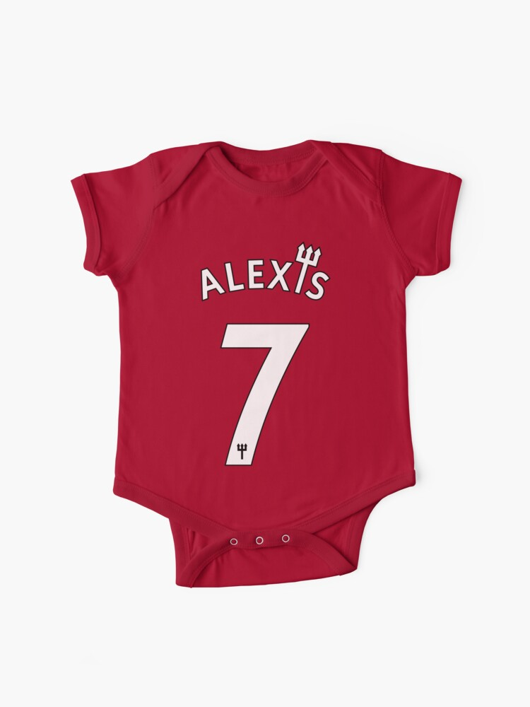 new product 566b8 68c6d Manchester United Alexis Sanchez 7 | Baby One-Piece
