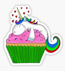 Unicorn Cupcake Sticker
