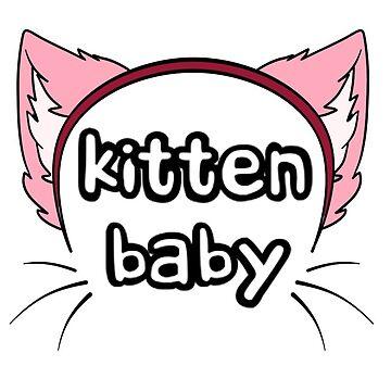 Kitten Baby - Pink by theoriginalgoof