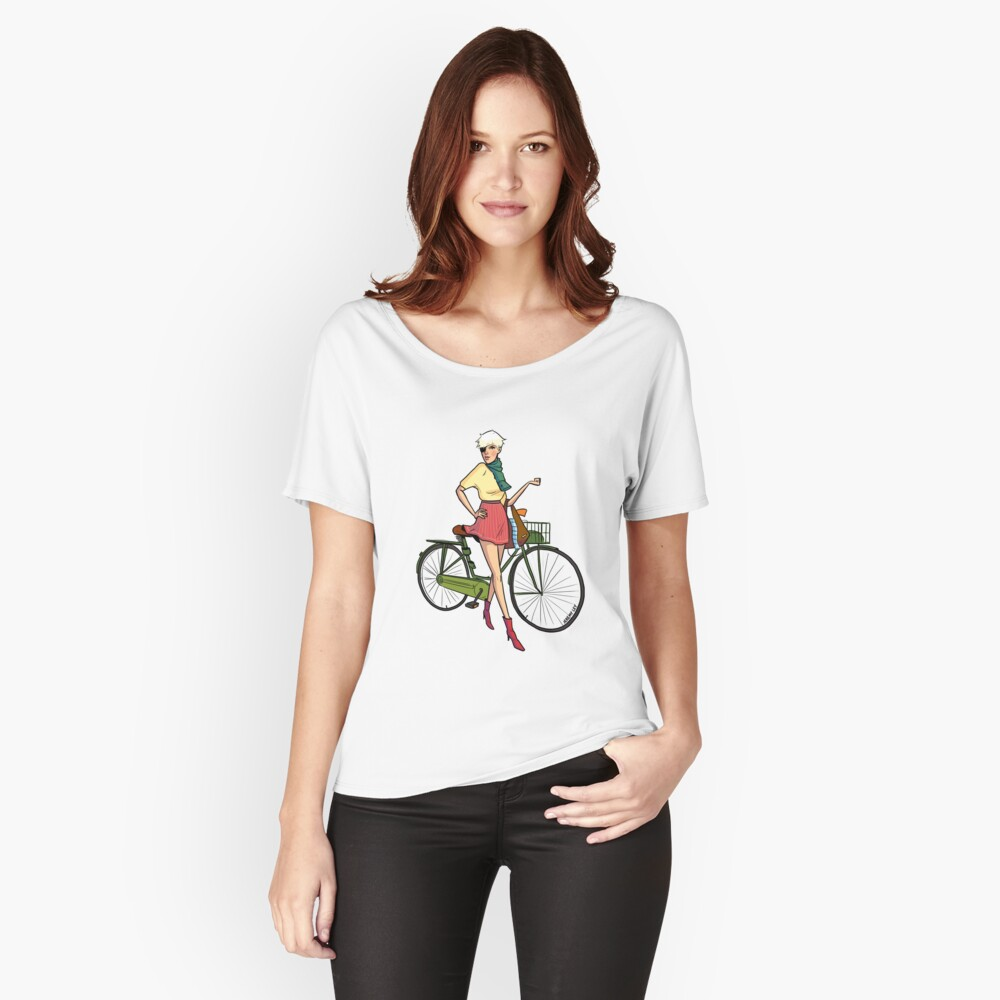 Agyness Cartoon  Women's Relaxed Fit T-Shirt Front