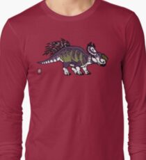 Purple and Green Pachyrhinosaurus Long Sleeve T-Shirt