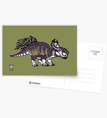 Purple and Green Pachyrhinosaurus Postcards