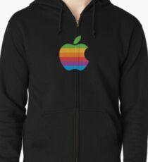 Apple Rainbow Zipped Hoodie