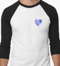 Tie Dye Heart Men's Baseball ¾ T-Shirt