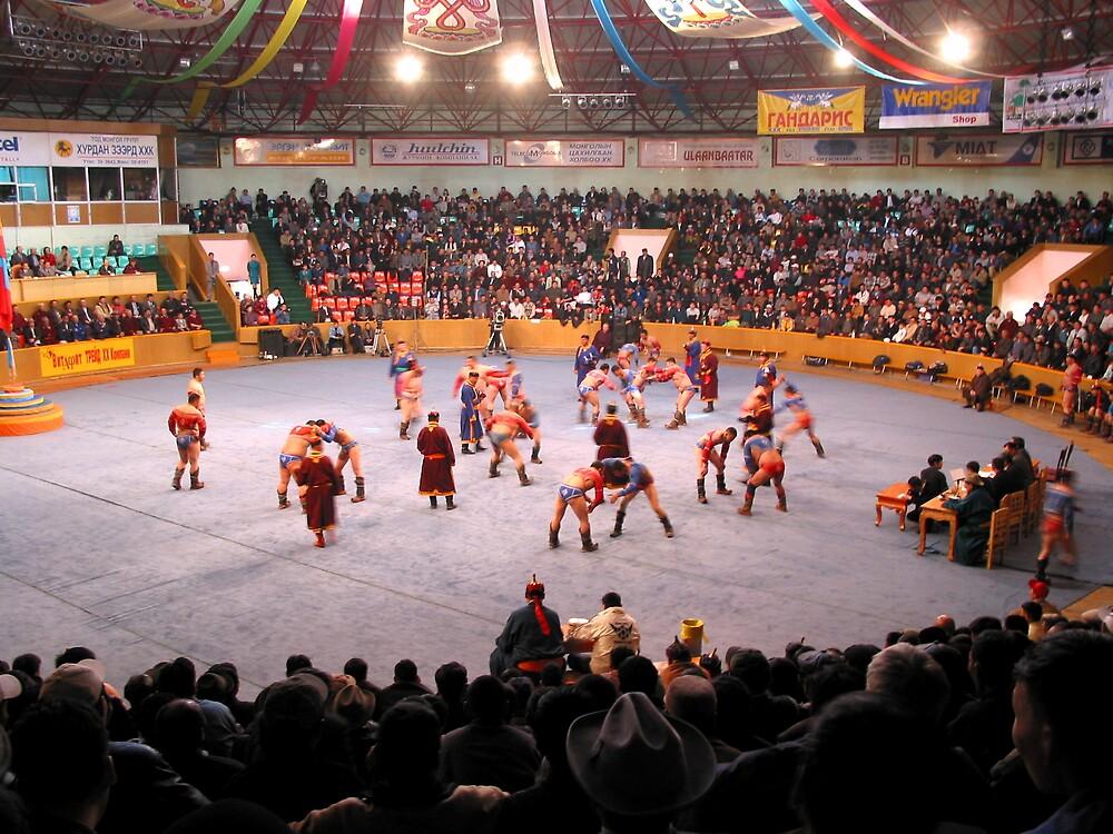 Mongolian wrestling championchips by Jeff Barnard