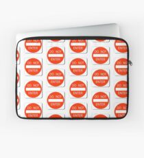 DO NOT ENTER KEEP OUT PATTERN Laptop Sleeve