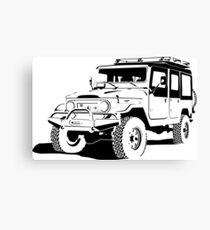 Toyota Land Cruiser Silhouette  Canvas Print