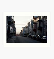 Settng Sun On The Streets Of Old Quebec Art Print
