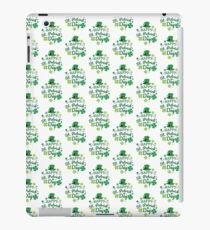 Cute Happy St. Patrick's Day Four Leaf Clover Lucky Print iPad Case/Skin