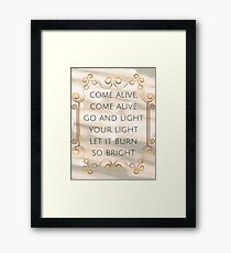 Come Alive - The Greatest Showman Framed Print