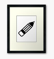 Pencil Framed Print