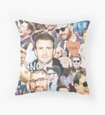 chris evans collage Throw Pillow