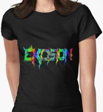 Psychedelic Excision Logo Women's Fitted T-Shirt