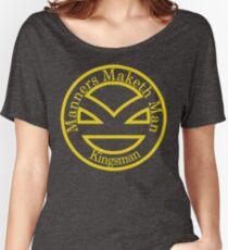 Camiseta ancha para mujer Manners Maketh Man [Kingsman] - Camisa alternativa