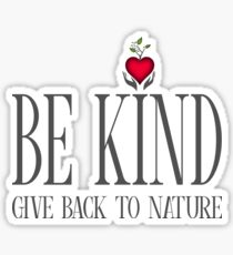 Be Kind - Text - Light Background Sticker