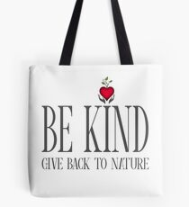 Be Kind - Text - Light Background Tote Bag
