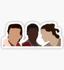 the new generation: poe, finn, rey Sticker