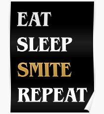 Eat Sleep Smite Repeat - Funny Paladin DnD Poster