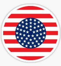 USA Circle Icon Sticker