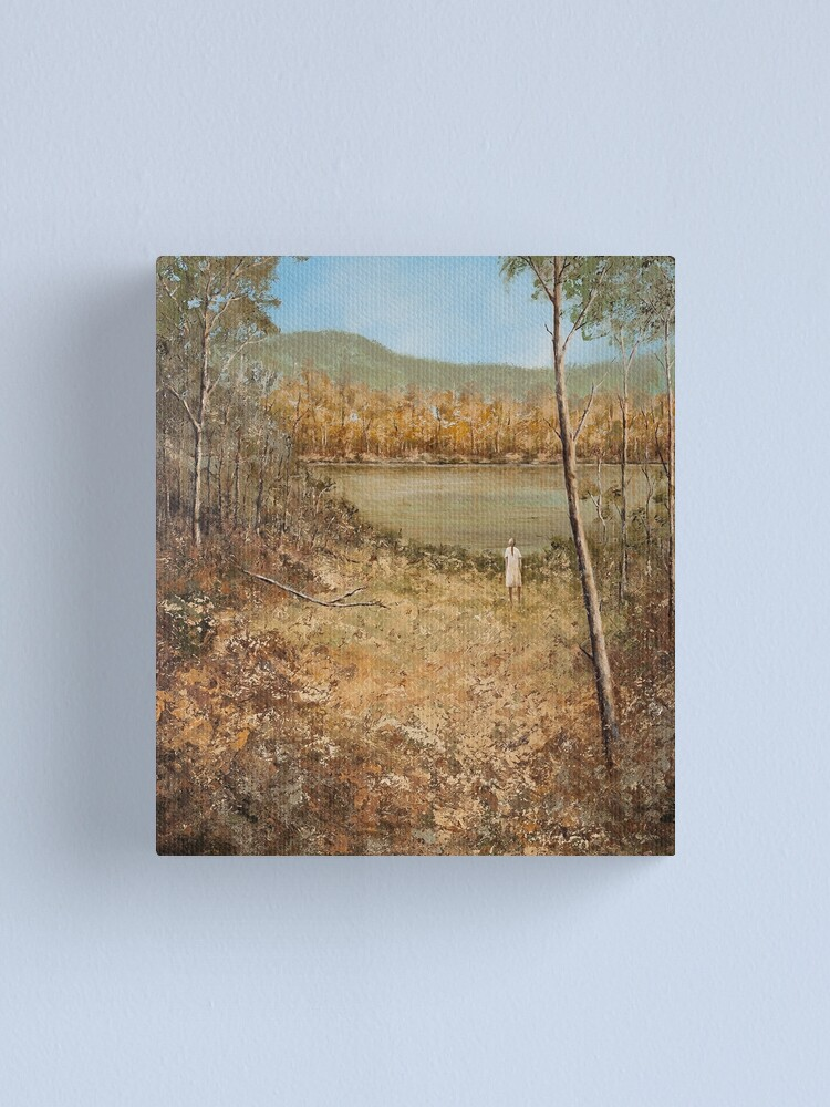 Alternate view of GIRL BY THE RIVER Canvas Print