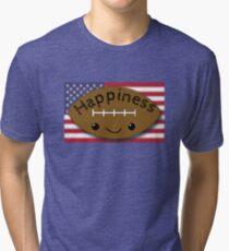 Happiness - Football Tri-blend T-Shirt