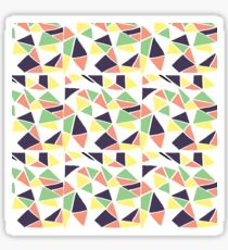 Seamless mosaic pattern triangles. Gift wrap, print, cloth, cute background for a card. Sticker