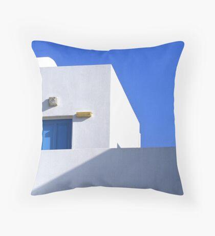 Mykenos window and wall Throw Pillow