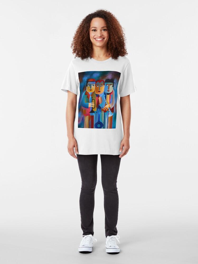 Alternate view of THREE MUSICIANS Slim Fit T-Shirt