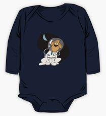 Dog in space. One Piece - Long Sleeve