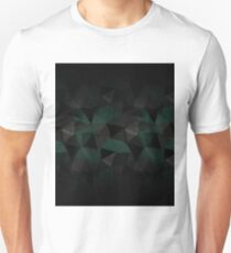 Abstract geometric pattern. Turquoise, black, grey triangles. Unisex T-Shirt
