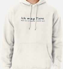 Ich mag Tiere. Pullover Hoodie