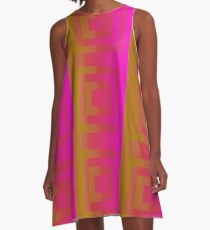 FUSCHIA SHOCK A-Line Dress