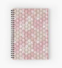 Abstract polygonal pattern of pastel colors. Spiral Notebook