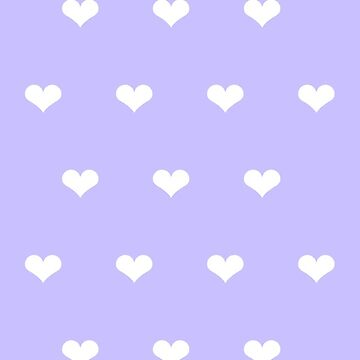 Lavender & White Hearts Phone Case by aeshaax