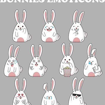 Bunnies Emoticon by inkpious