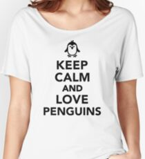 Keep calm and love penguins Women's Relaxed Fit T-Shirt