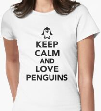 Keep calm and love penguins Women's Fitted T-Shirt